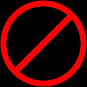 red anti symbol