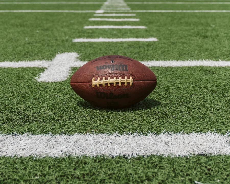 American Football On A Football Field
